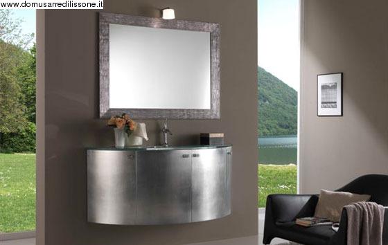 arredobagno in foglia argento - Arredo Bagno A Lissone