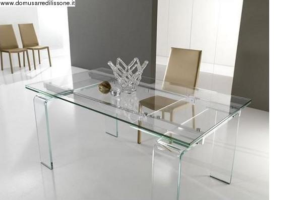 Tavolo trasparente in cristallo modello lord - Tavolo in cristallo allungabile ...