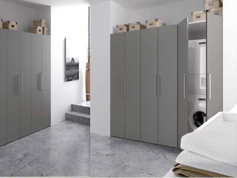 Colonna per lavanderia lavatrice e asciugatrice - Mobile nascondi lavatrice ikea ...