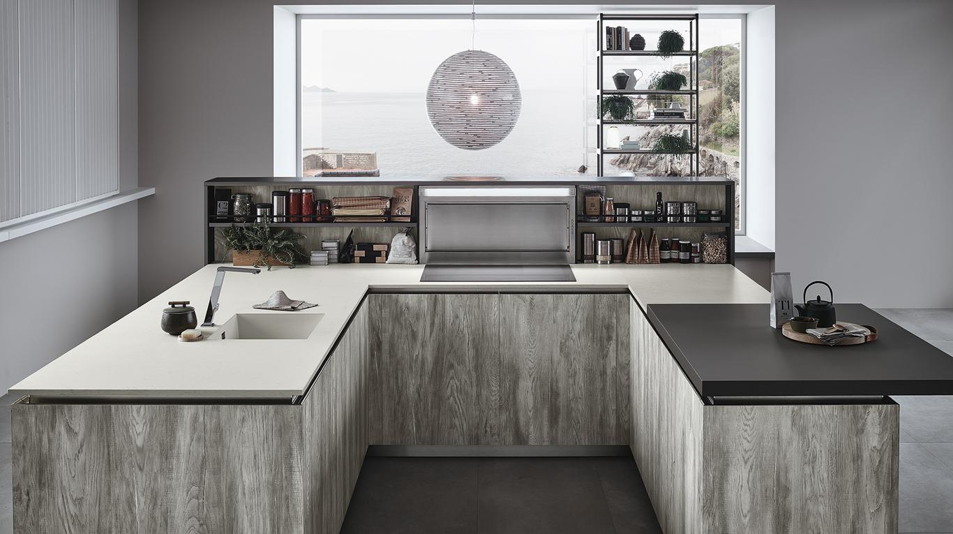 Cucina doppio angolo modello lounge - Cucina doppio angolo ...