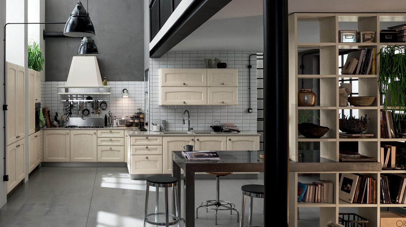 cucina angolare industrial style vintage classica Veneta Cucine