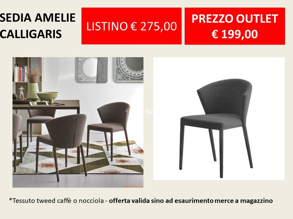 Offerte OUTLET calligaris sedia Amelie