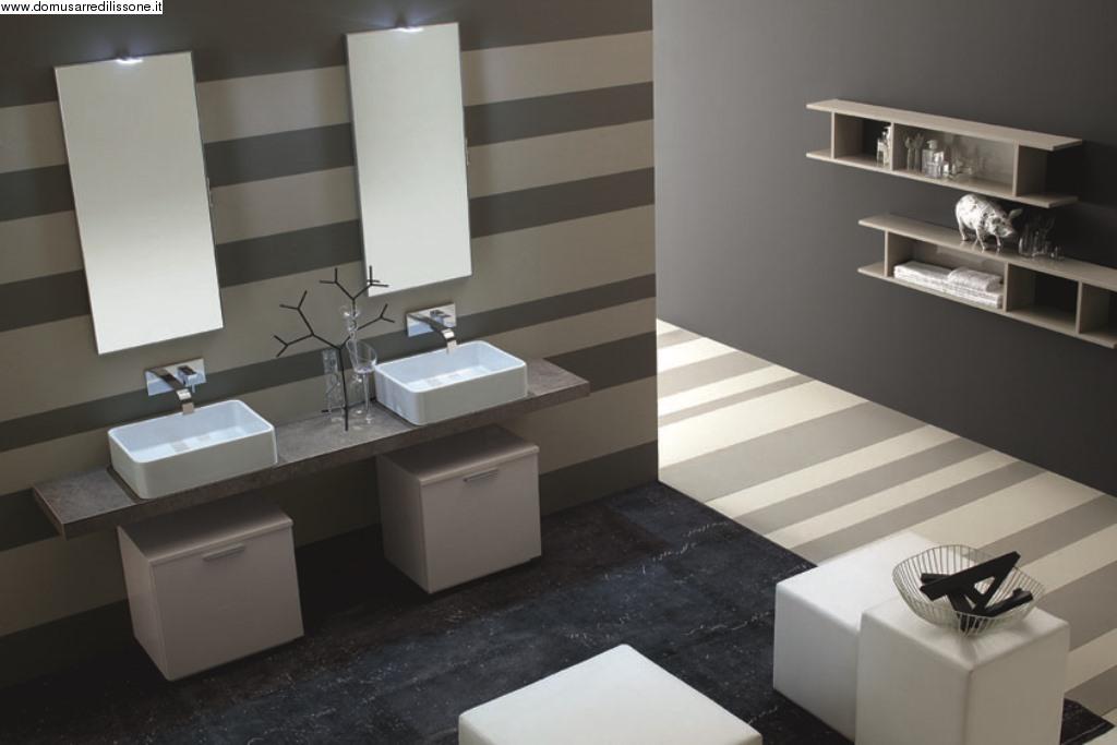 Bagno con doppio lavandino for Mobili bagno con due lavabi