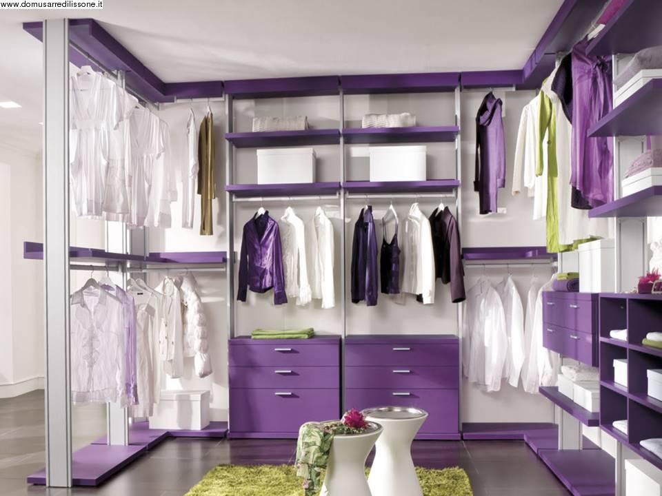 Cameretta Lilla E Viola : Cabina armadio lilla e viola