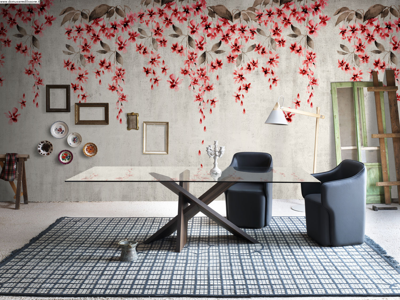 Tappezzeria epic effetto fiori a cascata for Tappezzeria da parete