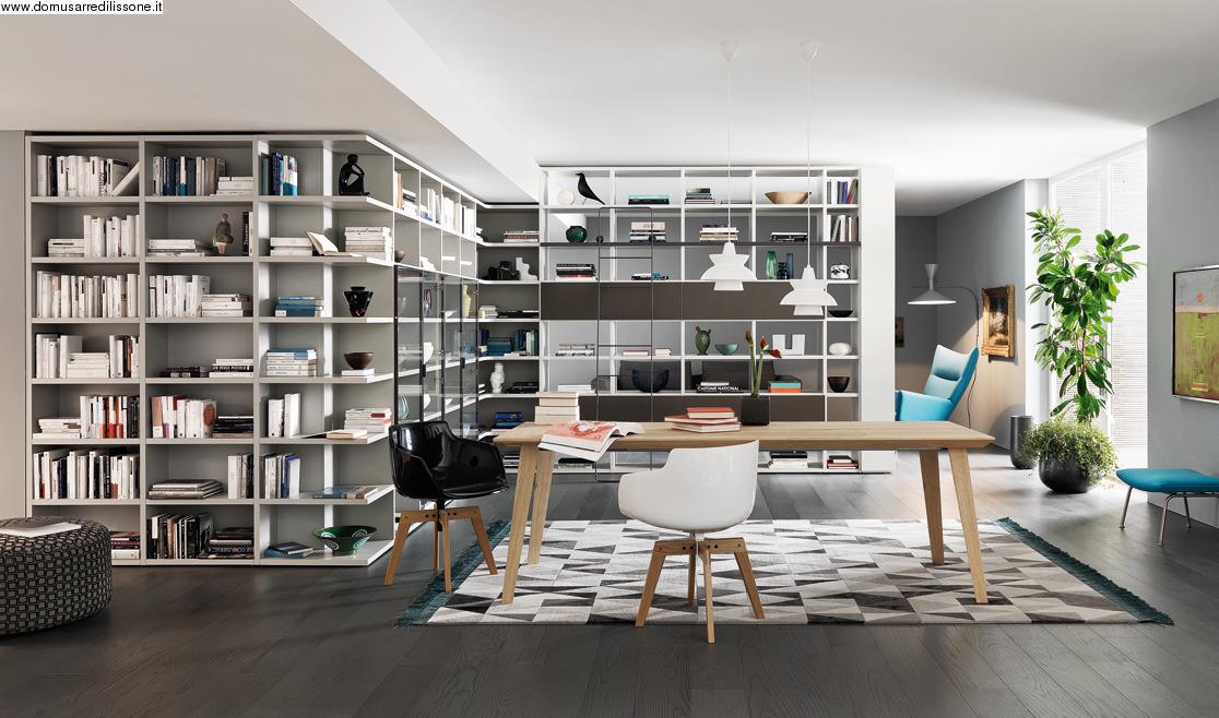 Soggiorno libreria anche su misura for Libreria soggiorno