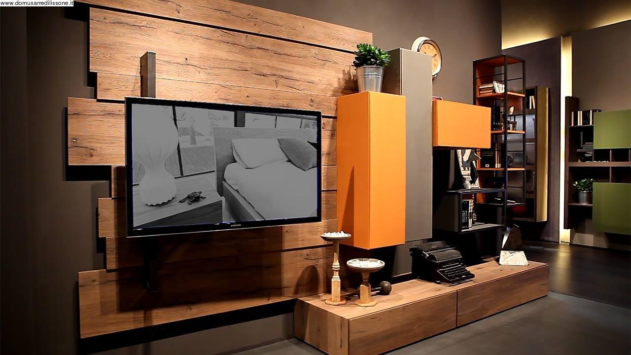 Soggiorno industrial style - Mobile tv stile industriale ...