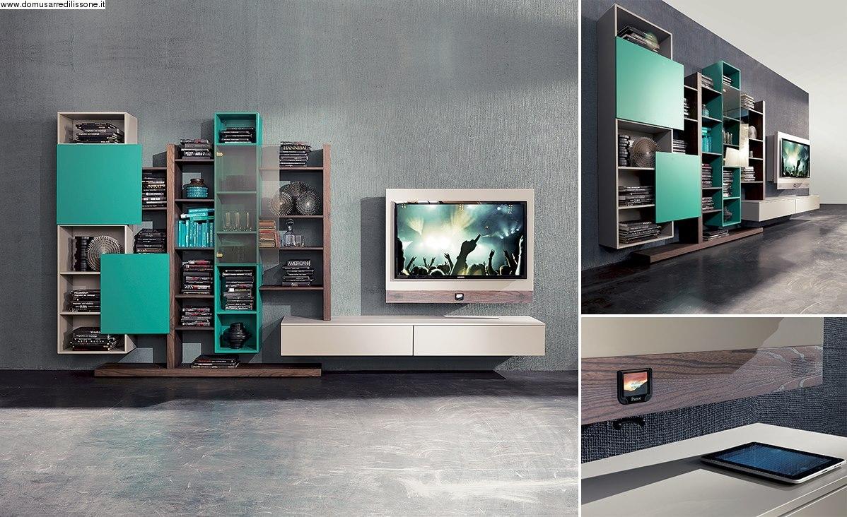 Librerie soggiorno moderne: librerie a parete design moderno per ...