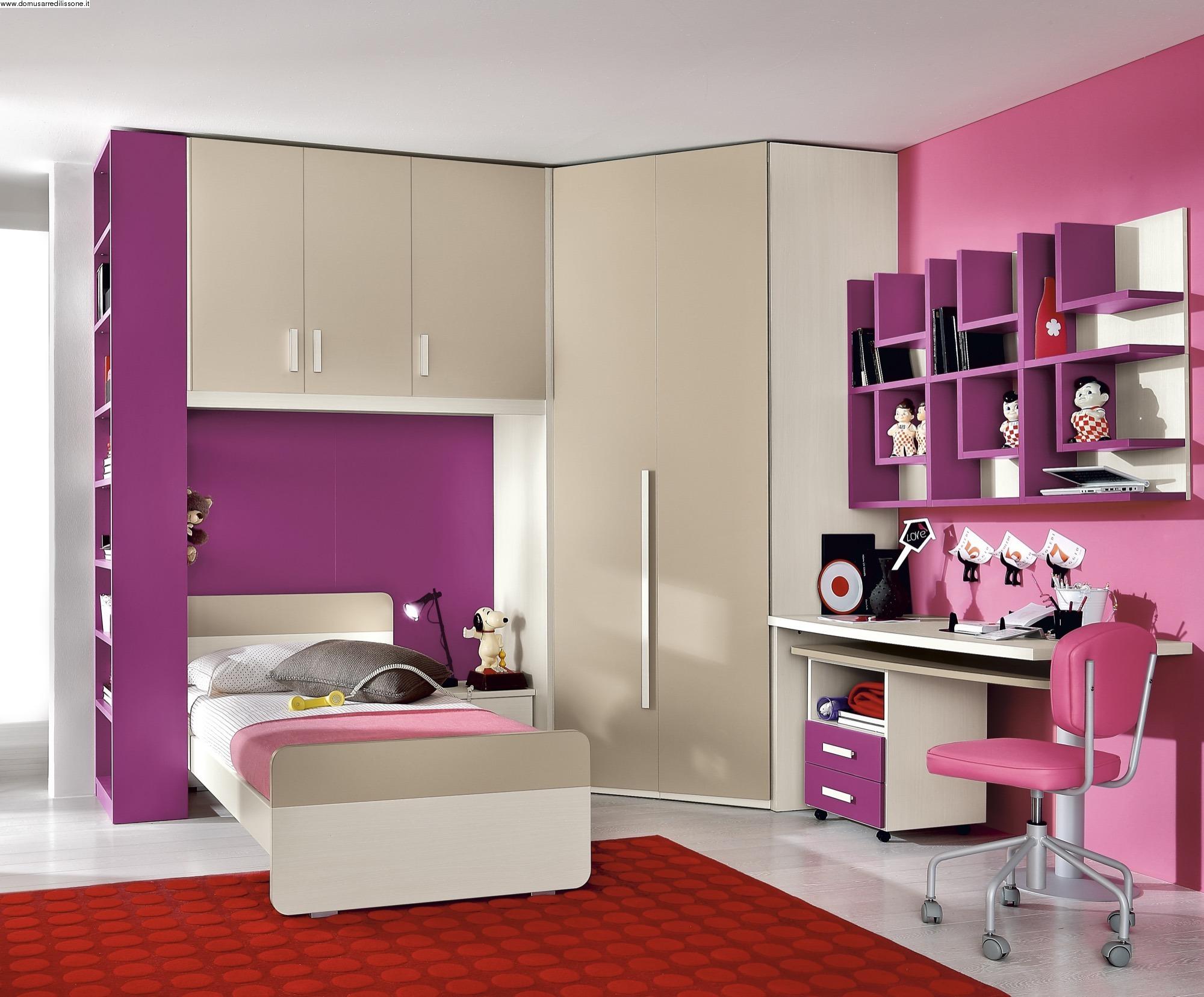 Cameretta rosa fucsia per bambina for Arredo cameretta bimba