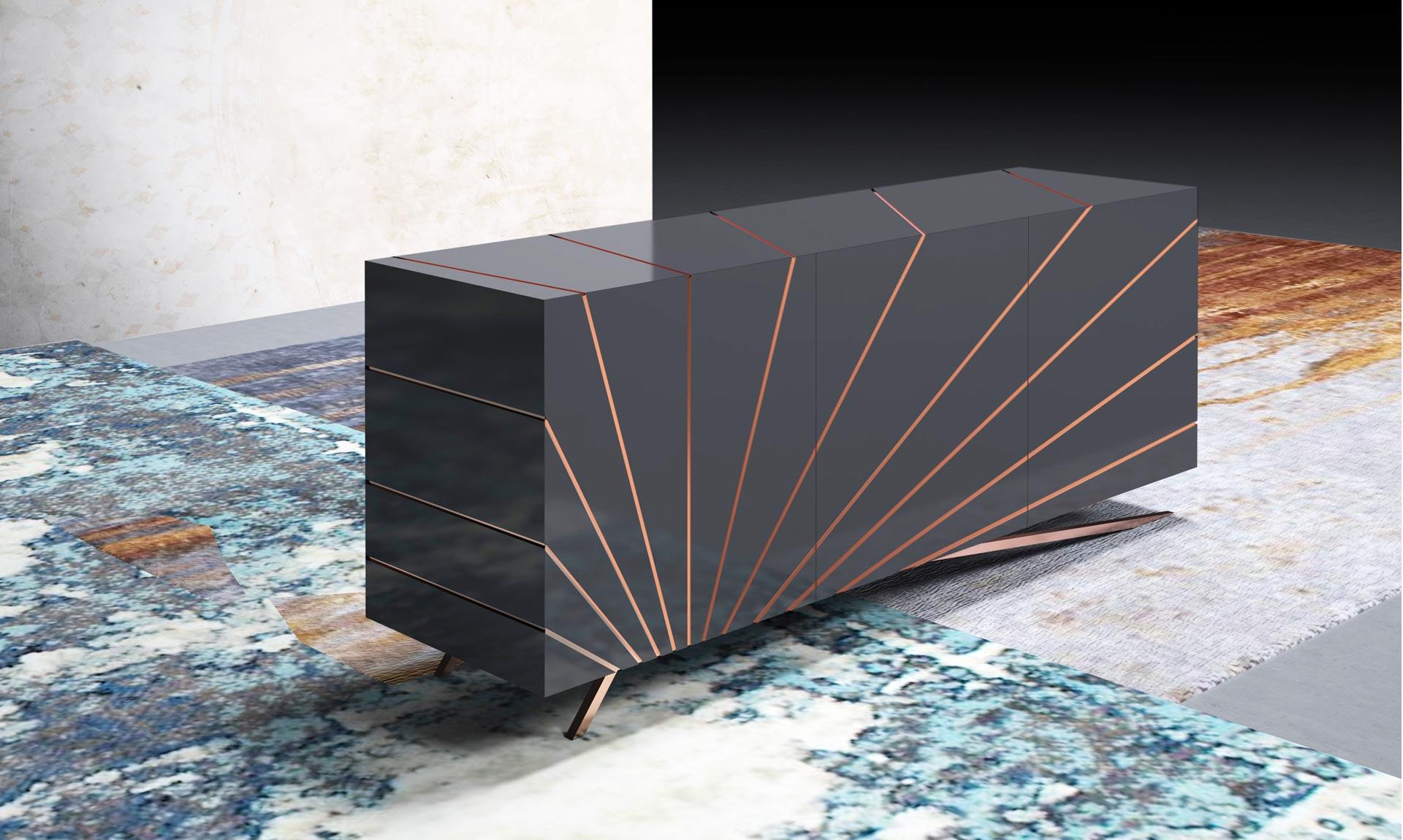 madia modello Solaris by Riflessi