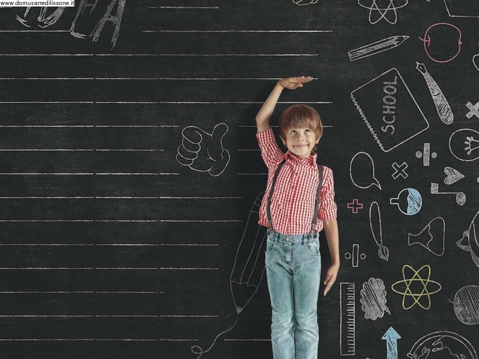 Carta Da Parati Con Disegni Per Bambini : Carta da parati per area bambini disegni su lavagna