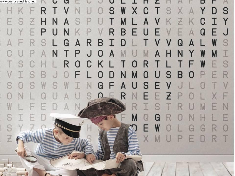 Carta Da Parati Lettere Alfabeto.Carta Da Parati Per Area Bambini Soggetto L Alfabeto