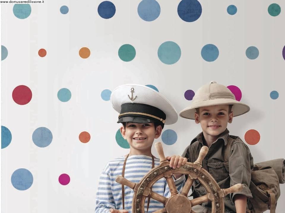 Carta Da Parati Pois Grigio : Carta da parati pois coloratissimi per area bambini