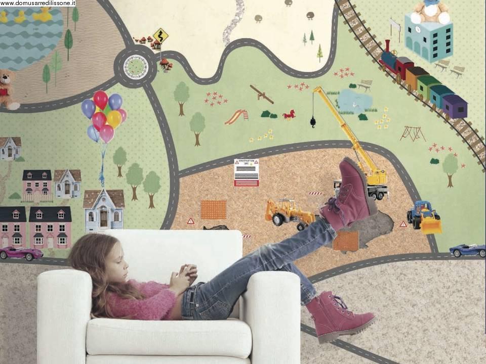 Carta Da Parati Per Camere Ragazzi : Wallpaper per camera ragazzi parco giochi