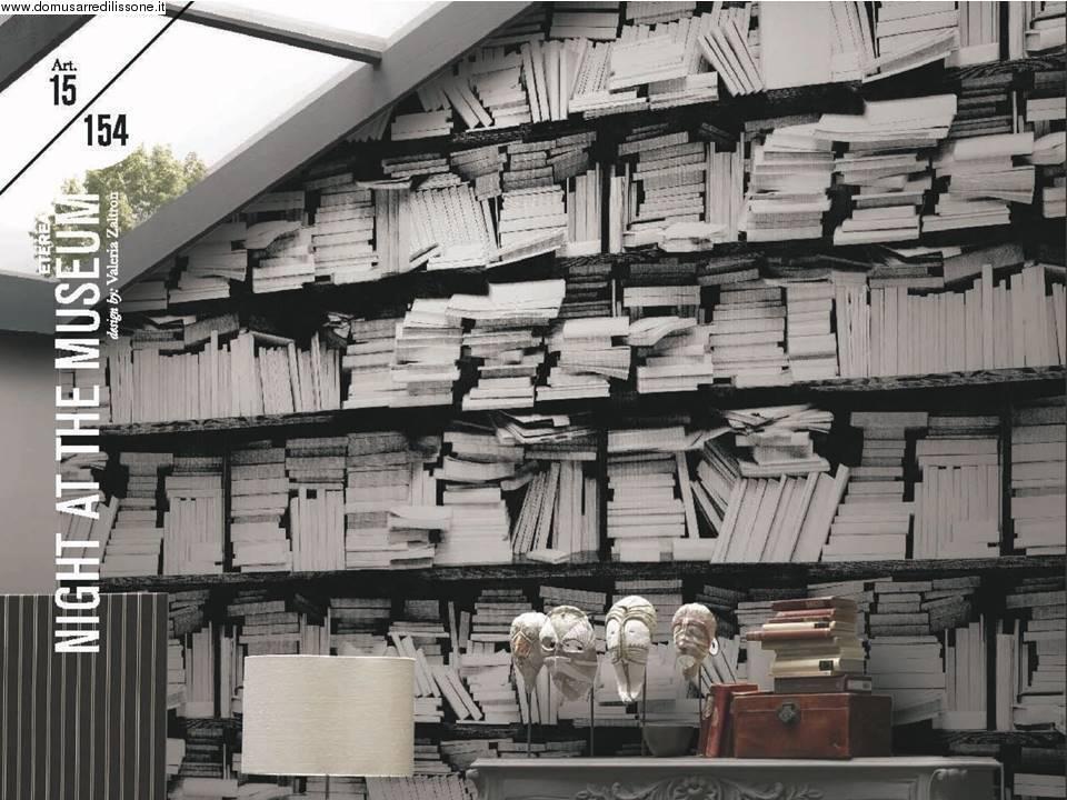 Domus arredi lissone veneta cucine for Carta da parati libreria