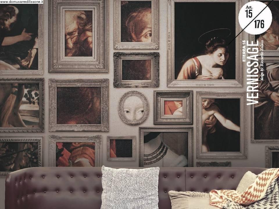 Tappezzeria 3d con quadri for Carta da parati artistica