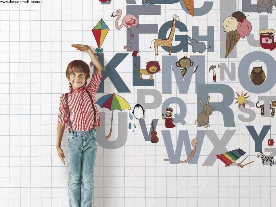 Carta Da Parati Lettere Alfabeto.Carta Da Parati Colorata Effetto Alfabeto