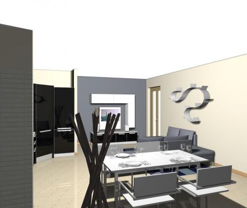 Zona living cucina e soggiorno per un ambiente unico e for Giornali di arredamento
